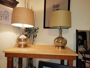2MATCHING TRANSLSUSCENT LAMPS for Sale in Norman, OK