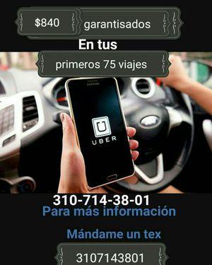 Uber trabaja de driver ganate bonos extras for Sale in Downey, CA