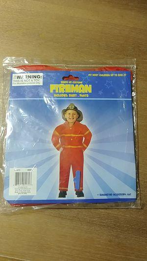 Dress up children's costume Halloween fireman for Sale in Marysville, WA