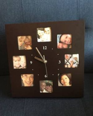 """NEW Melannco 12"""" brown/expresso photo collage clock - $20 for Sale in Mechanicsburg, PA"""