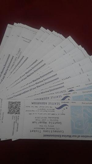 Seattle aquarium tickets for Sale in Renton, WA
