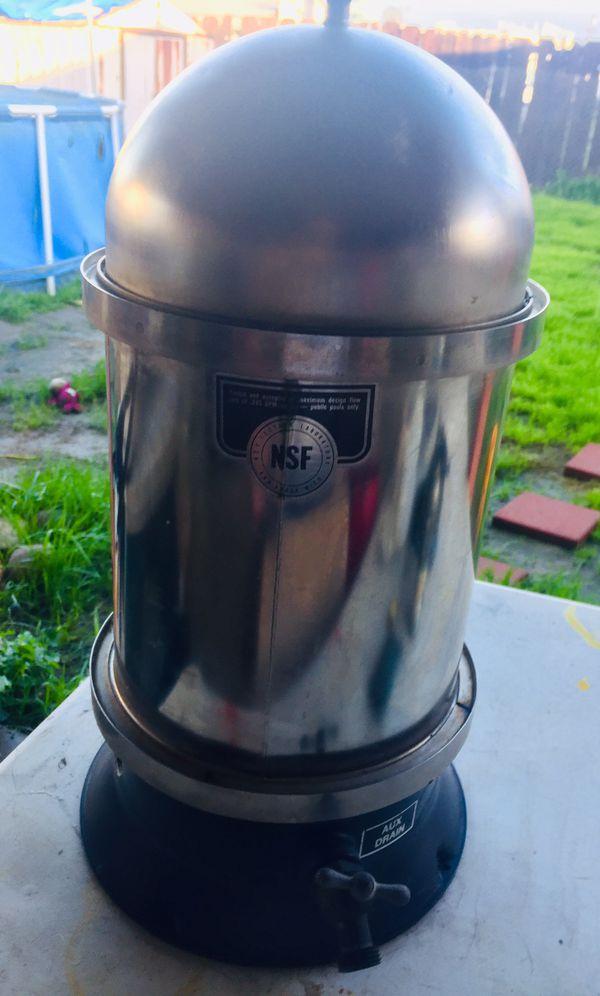 Vintage stainless steal Sta-rite Posi-floe pool spa filter