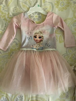 H&M Elsa tutu dress size 2-4 years.. Oshkosh overall dress size 3T... Carter's denim jacket size 2T for Sale in Santa Fe Springs, CA