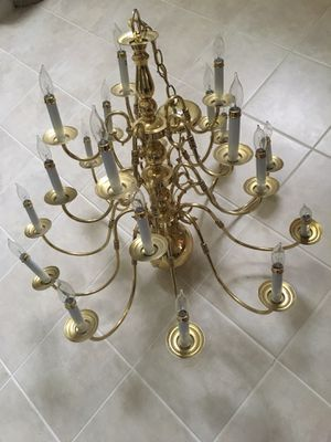 Gold color light chandelier for Sale in Fairfax, VA