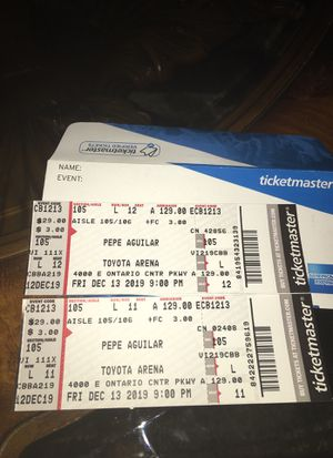 PEPE AGUILAR Concert Tickets December 13 ,2019 for Sale in Ontario, CA