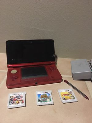 Flame Red Nintendo 3ds bundle for Sale in Lynnwood, WA