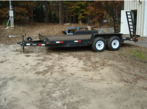16foot, 6axles, great condition, can pull cars bobcat etc,