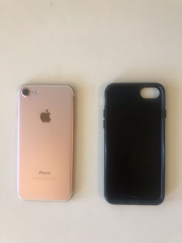 32GB iPhone 7 rose gold boost mobile with brand new mixtape case