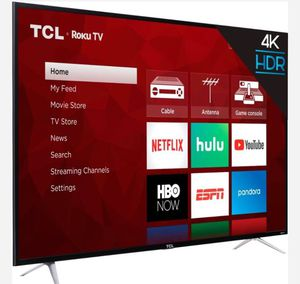 """TCL 65"""" Class 4K (2160P) HDR Roku Smart LED TV (65S401) Factory Refurbished-LEASING available for Sale in Richardson, TX"""