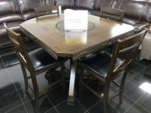 Mindy Brown Dining Table with 4 Chairs ONLY $399. NO CREDIT CHECK FINANCING for Sale in Tampa, FL