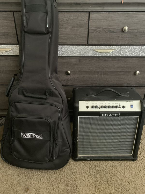 Crate Amp And Wolfpack Guitar Case