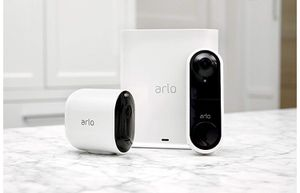 Arlo Ultra - 4K UHD Wire-Free Security Camera, Color Night Vision, Spotlight, 2-Way Audio, Indoor/Outdoor | with Arlo Video Doorbell for Sale in Holland, MI