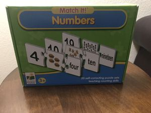 Numbers Matching Puzzle for Sale in Arlington, TX