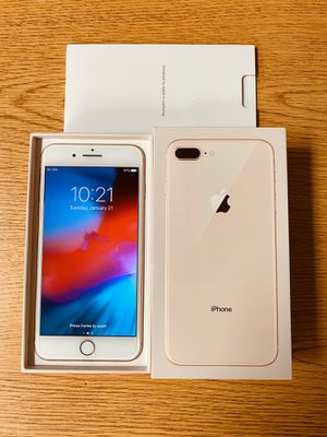 iPhone 8 Plus, 64gb Rose Gold Factory unlock for all carriers Att T-Mobile Sprint Boost Metro PCS Cricket Simple H2O Lyca & Worldwide Like BRAND NEW for Sale in Palatine, IL