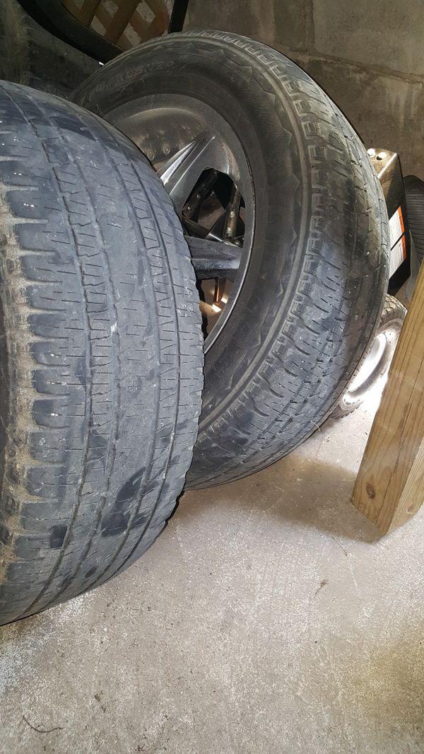"20"" 6 lug rims and tires"
