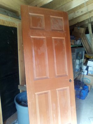 Brand new varnished wood door it's 80 Long 24 in wide for Sale in Kent, WA