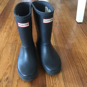 Hunter kids rain boots size US11 for Sale in The Bronx, NY