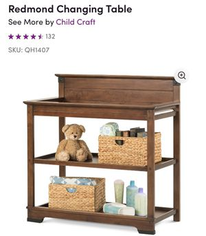 Wooden changing table for Sale in Bristol, CT