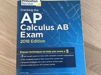 AP Calculus AB Exam: The Princeton Review 2018 Edition for Sale in San Francisco,  CA