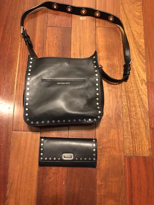 Mk black leather Handbag and wallet for Sale in Richmond, VA