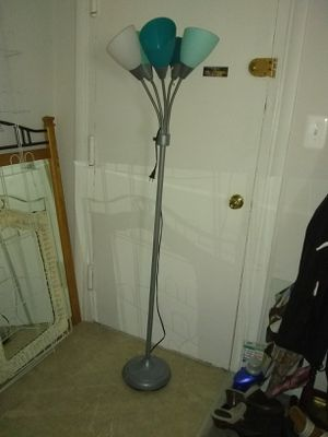 Floor lamp plastic shade 5 arm for Sale in Alexandria, VA
