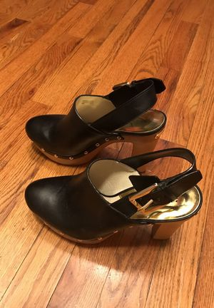 Classy Michael Kors clogs with heels for Sale in Denver, CO