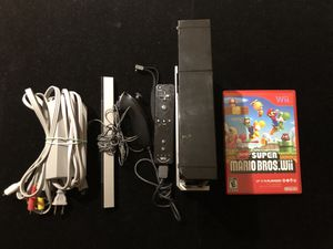 Nintendo Wii Black Console Bundle with Remote/Nun Chuck Combo + Super Mario Bros for Sale in Atlanta, GA