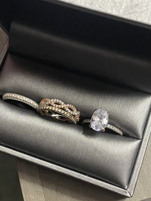 Engagement Ring with Bands fit SIZE 5/6 for Sale in Sacramento, CA