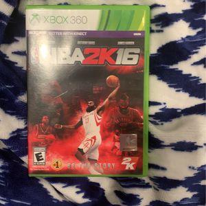 NBA 2K16 For Xbox 360 for Sale in Baton Rouge, LA