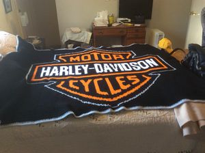 Harley Davidson Knitted Blanket for Sale in Denver, CO