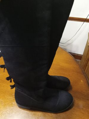 Cat &Jack girls black tall boots sz4 for Sale in Washington, DC