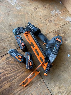 Ridgid batteries With broken nail gun for Sale in Vancouver, WA