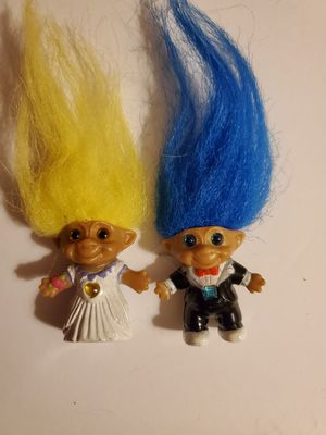 Limited Edition Bride and Groom Troll Dolls. for Sale in Downey, CA