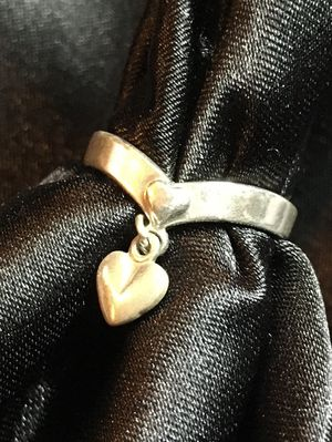 Sterling Silver Two Hearts Ring Size 5 for Sale in Raymore, MO