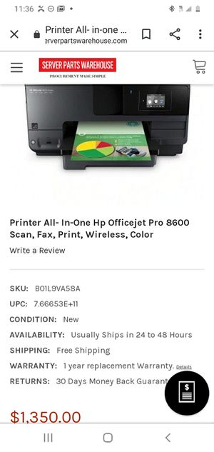 Play super super life HP Officejet Pro 8600 premium printer for Sale in Cleveland, OH