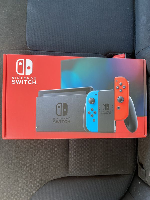 Nintendo Switch Console Neon Blue & Red Joy-Con