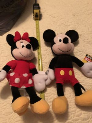 Mickey and Minnie stuffed animals for Sale in Arvada, CO