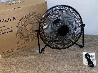 COMLIFE 11 Inch Battery Powered Desk Fan USB Table Fan for Sale in New York,  NY