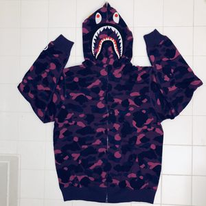 Bape purple camo shark hoodie size L and XL for Sale in Malden, MA