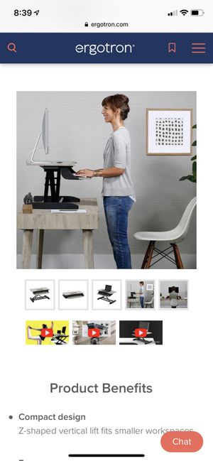 Sit-stand desk stand for Sale in Saint Petersburg, FL