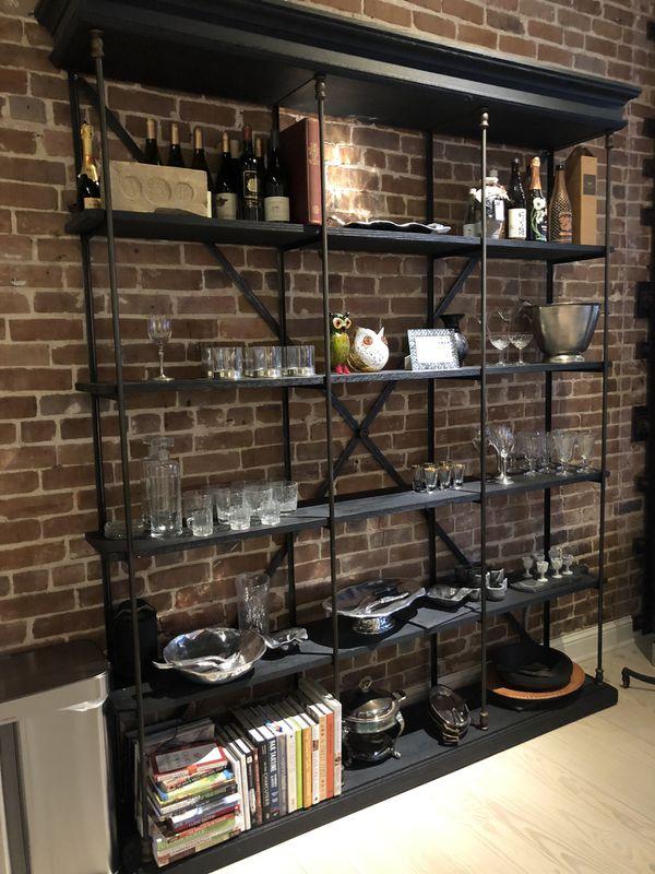 RESTORATION HARDWARE Parisian Cornice Triple Shelving, Storage
