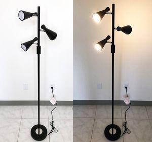 New $30 LED 3-Light Floor Lamp 5ft Tall Adjustable Tilt Light Fixtures Home Living Room Office for Sale in El Monte, CA