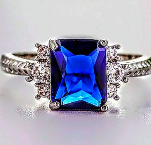 S925 Sapphire Ring Size 6 for Sale in Wichita, KS