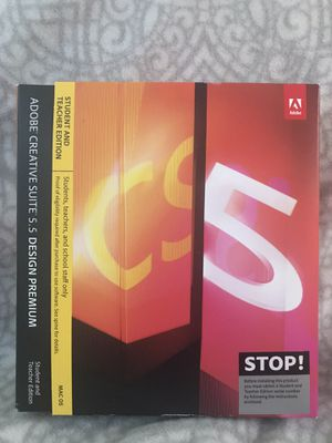 Adobe Creative Suite 5.5 Design Premium MAC OS - Student and Teacher Edition for Sale in LOS RNCHS ABQ, NM