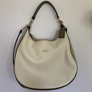 Coach White Pebbled Leather Hobo Purse for Sale in Westminster, CA