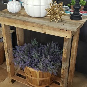 Rustic reclaimed wood console hall kitchen island table for Sale in Bartow, FL