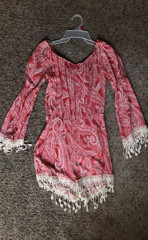 Coral fringe romper for Sale in Atwater, CA