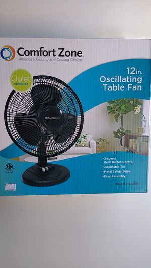 "12"" 3-SPEED OSCILATING TABLE FAN. for Sale in La Puente, CA"