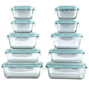 20pcs Glass Food Storage Containers for Sale in Fort Lauderdale, FL