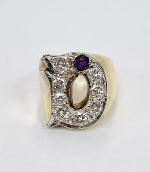 """18k Yellow Gold Ring """"D"""" with total of 8 VS2 Diamonds. Weight: 16.9g – Size: 6 ¾"""" for Sale in Miami, FL"""